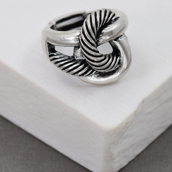 Rope knot stretchy ring