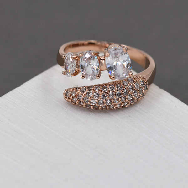 Open CZ crystal ring