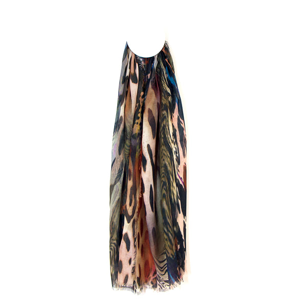 'Cavelli' style digital print snake scarf 100% polyester