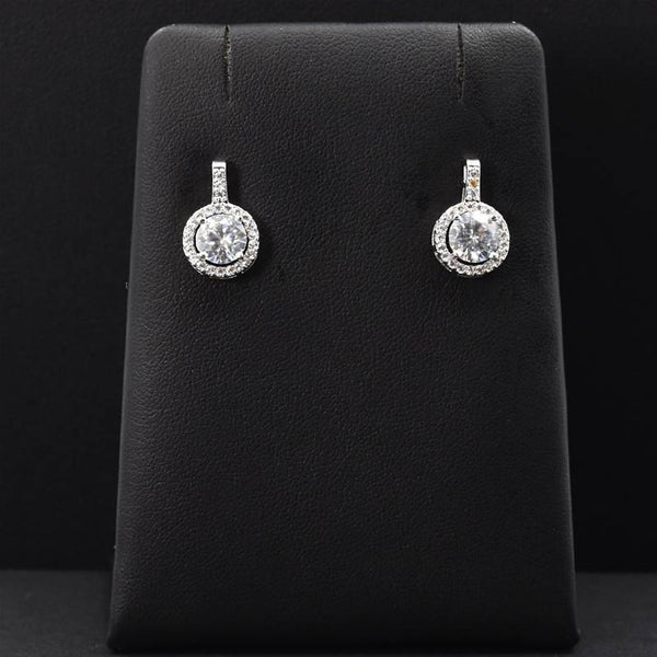Crystal stud earrings with drop