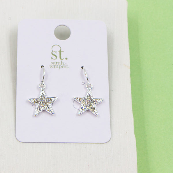 Crystal encrusted star earrings