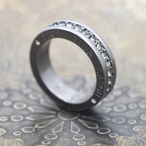 Full eternity style crystal ring w