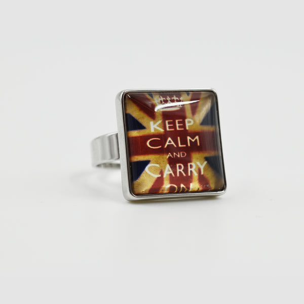 Keep Calm & Carry On ring