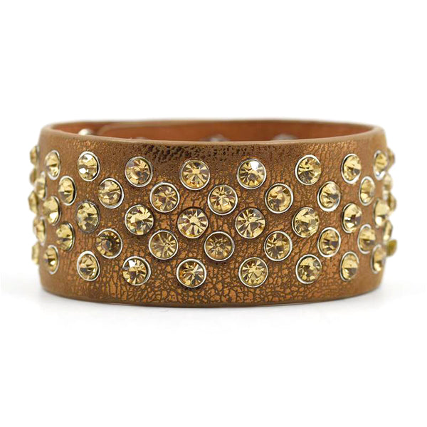 Statement cuff with stone stud feature
