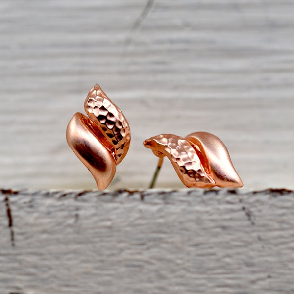 Swirl inspired stud earrings