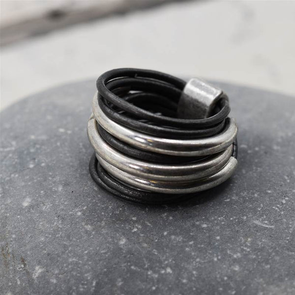 Multi tube leather ring