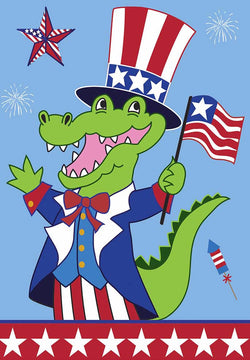 Uncle Sam Alligator - Islander Flags of Kitty Hawk, Inc.