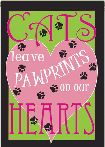 Cats Leaves Pawprints on our Hearts - Islander Flags of Kitty Hawk, Inc.