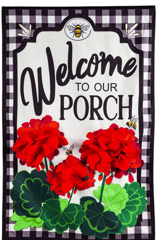 Welcome to Our Porch Geraniums
