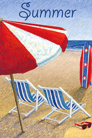 Patriotic Beach Chair 28x40 - Islander Flags of Kitty Hawk, Inc.