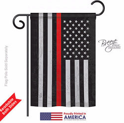 Firefighter Red Line USA Garden Flag - Islander Flags of Kitty Hawk, Inc.