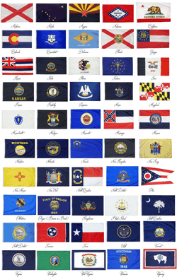 State Flags 3x5 ft and 4x6 ft