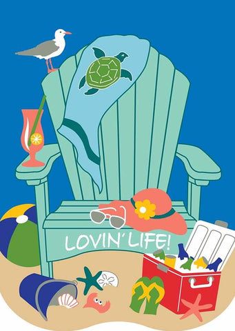 Beach Chair - Lovin' Life - Islander Flags of Kitty Hawk, Inc.