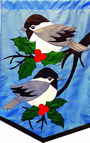 Chickadees on Blue - Islander Flags of Kitty Hawk, Inc.