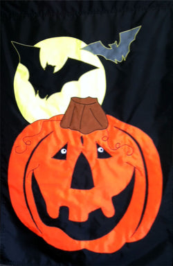 Pumpkin with Bats - Islander Flags of Kitty Hawk, Inc.