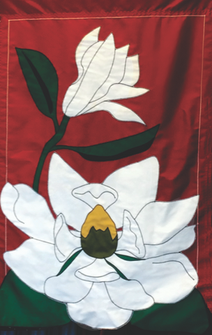 Magnolia on Red - Islander Flags of Kitty Hawk, Inc.