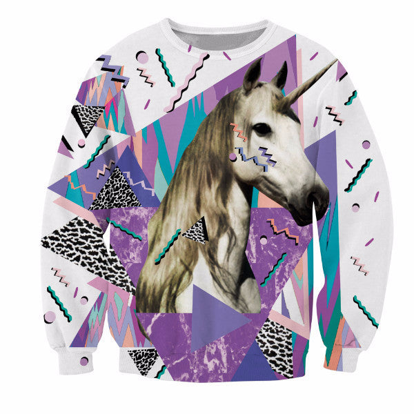 Sweatshirt Unicorn With Vibrant Patterns-Unicorns Wonderland