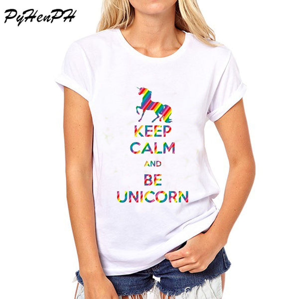 Rainbow Keep Calm And Be Unicorn T-Shirt-Unicorns Wonderland