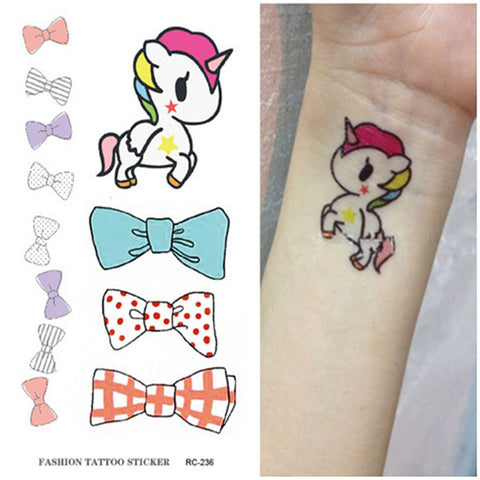 Cute Unicorn Waterproof Temporary Tattoo-Unicorns Wonderland