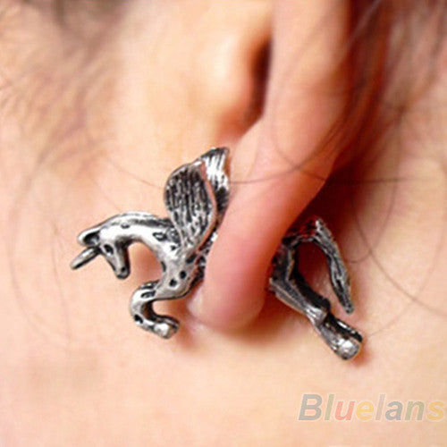 New Retro Vintage Punk Earring Stud Cute Unicorn-Unicorns Wonderland