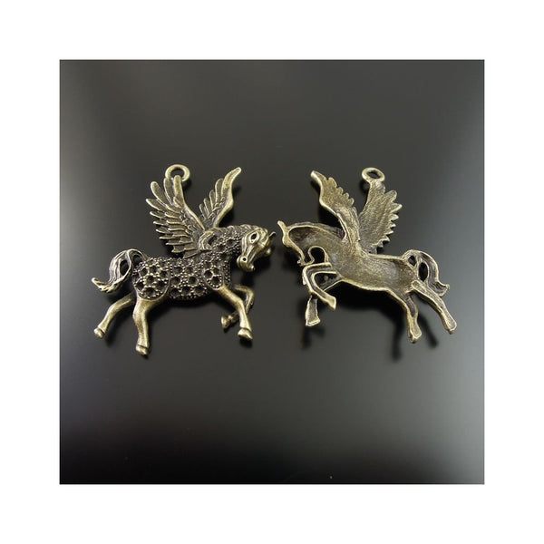 8Pcs Diy Antiqued Bronze Color Flying Pendant-Unicorns Wonderland