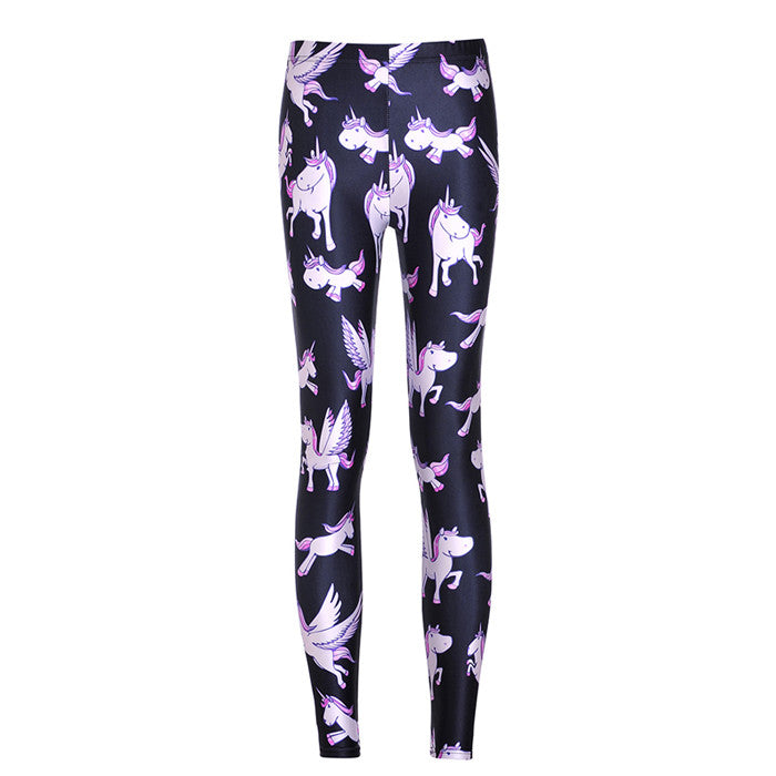 Woman Cute Unicorn Legging-Unicorns Wonderland