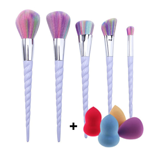 Unicorn Makeup Brushes Set Rainbow-Unicorns Wonderland