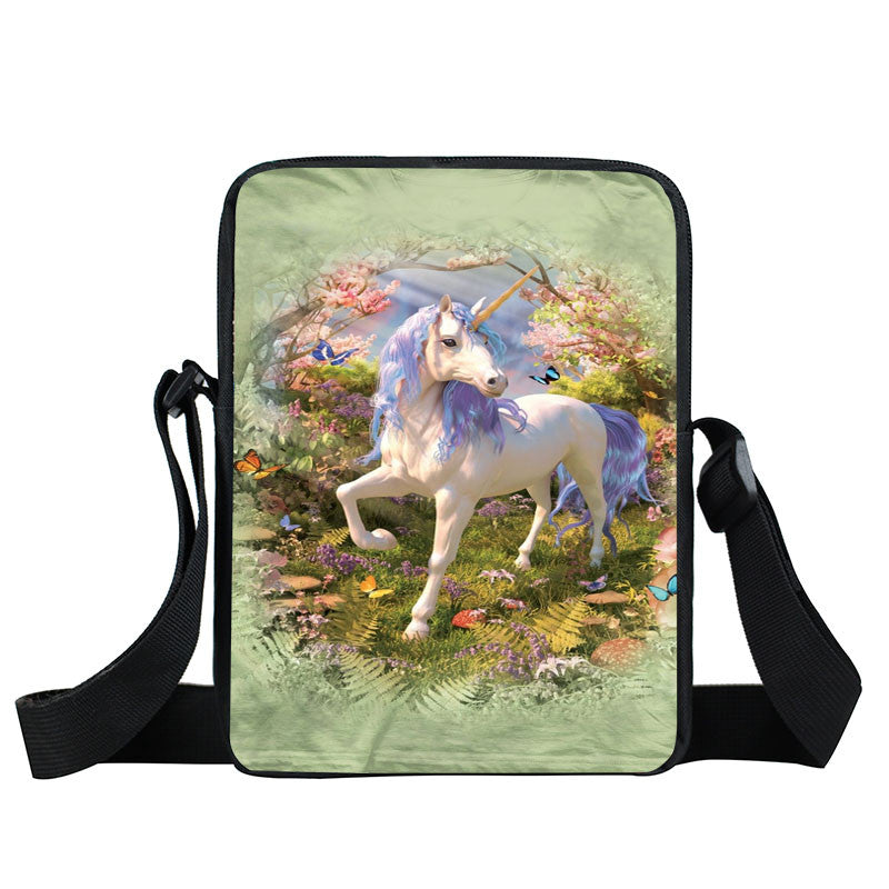 Unicorn Mini Crossbody Bag-Unicorns Wonderland