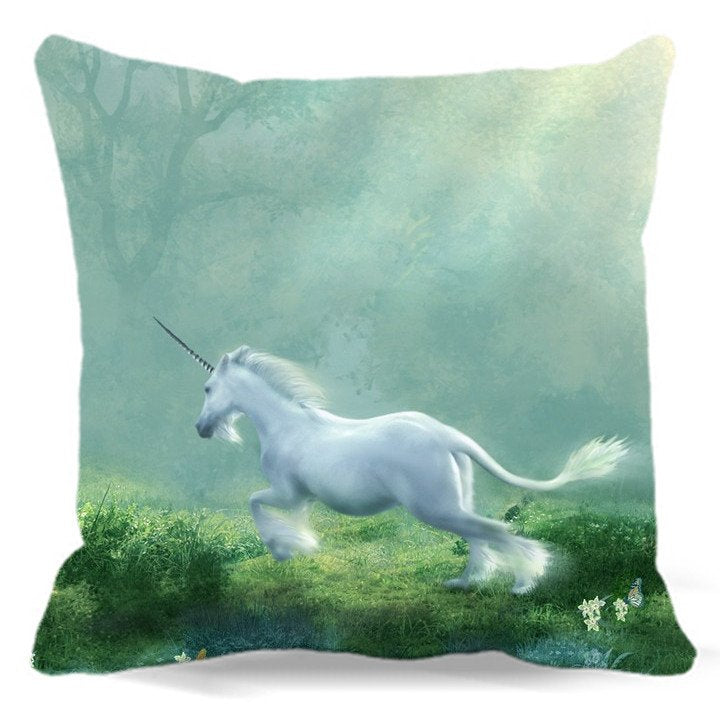 Unicorn Soft Cushion Cover 40 45 48 Cm Cotton Polyester-Unicorns Wonderland