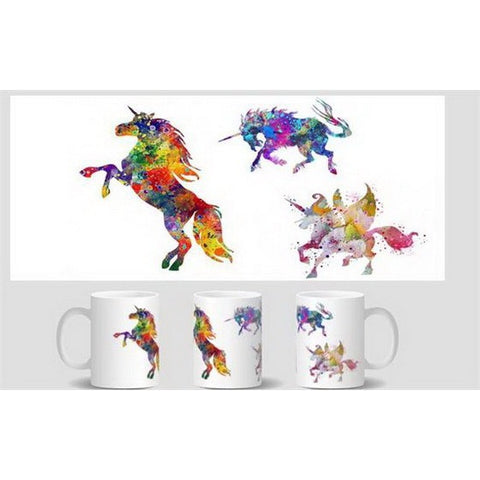 unicorn ceramic mug Coffee-Unicorns Wonderland