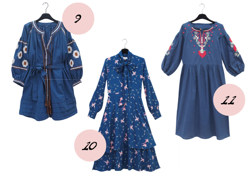 Blue cotton dresses blogpost