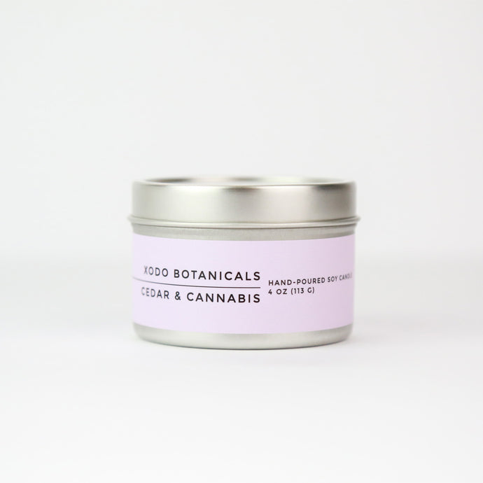 CEDAR & CANNABIS TRAVEL CANDLE