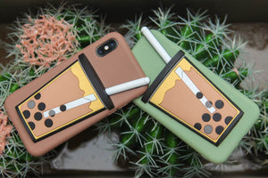 Hold My Bubble Tea Phone Case (Pearl Brown)