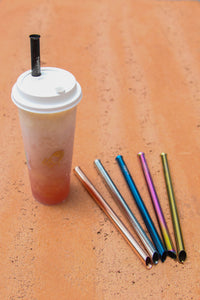Rose Gold Stainless Steel Bubble Tea Straw