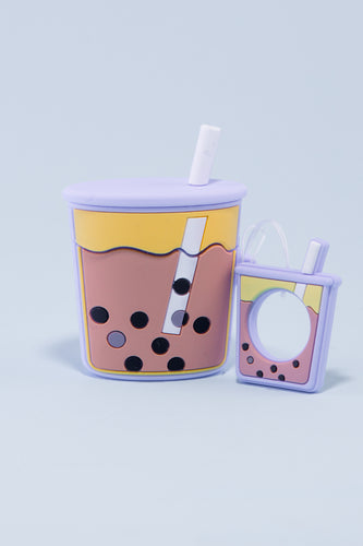 Pocket Bubble Tea Airpods Case (Taro Purple)