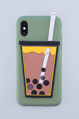 Hold My Bubble Tea Phone Case (Matcha Green)