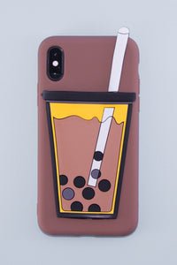 Hold My Bubble Tea Phone Case (Pearl Brown) - The Lab