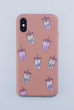 Load image into Gallery viewer, It's Raining Bubble Tea Phone Case (Milk Tea Brown) - The Lab