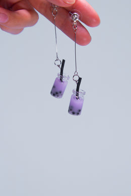 Taro Milk Tea Earrings