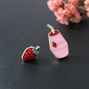 Strawberry and Milk Earrings - The Lab