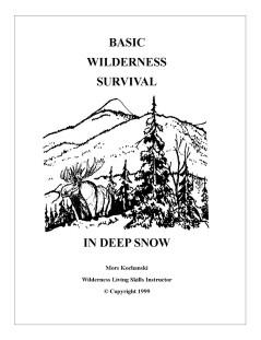 Basic Wilderness Survival In Deep Snow Pocket Book - Mors Kochanski - Nature Alivebooks