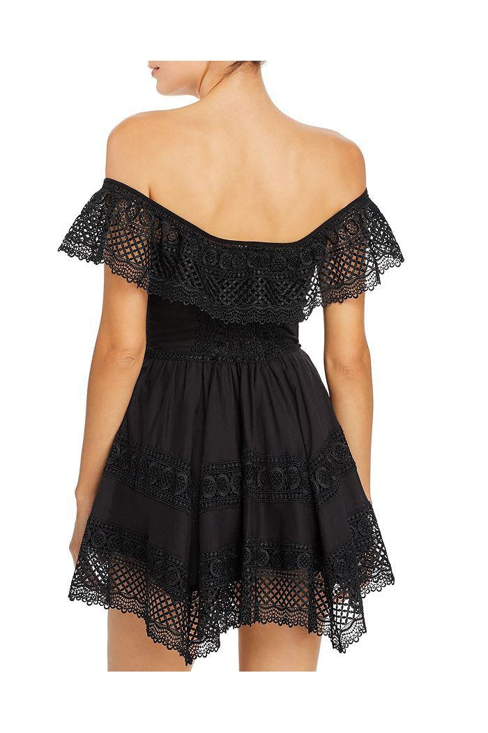 CHARO RUIZ VAIANA DRESS IN BLACK