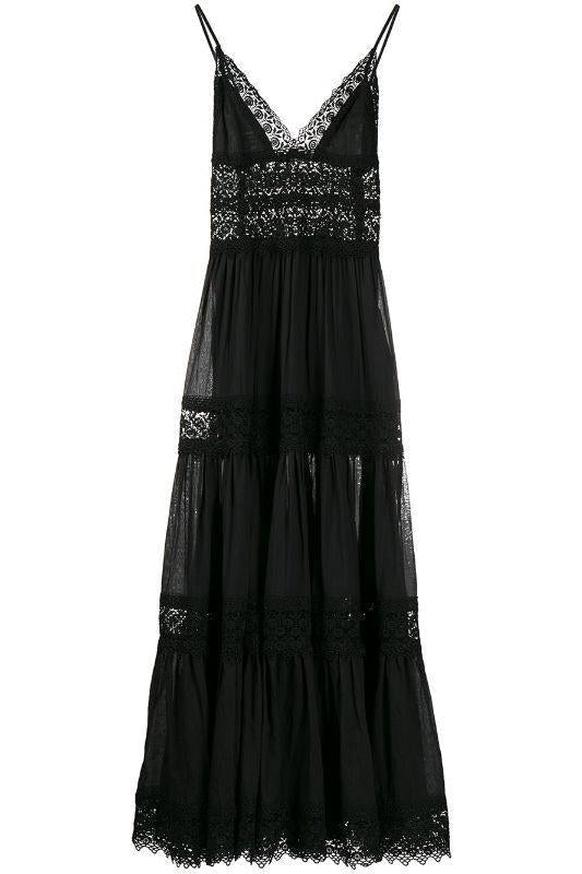 CHARO RUIZ IBIZA CINDY MAXI DRESS IN BLACK