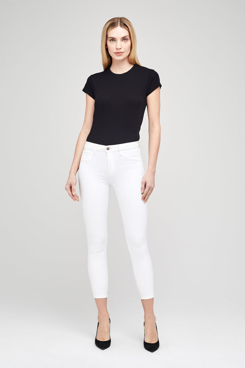 L'AGENCE MARGOT HIGH RISE SKINNY IN BLANC