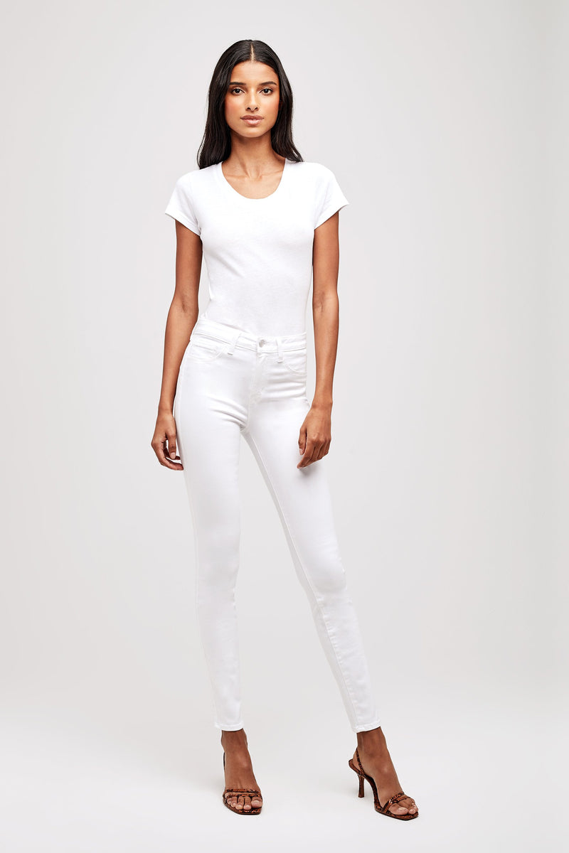 L'AGENCE MARGUERITE HIGH RISE SKINNY IN BLANC