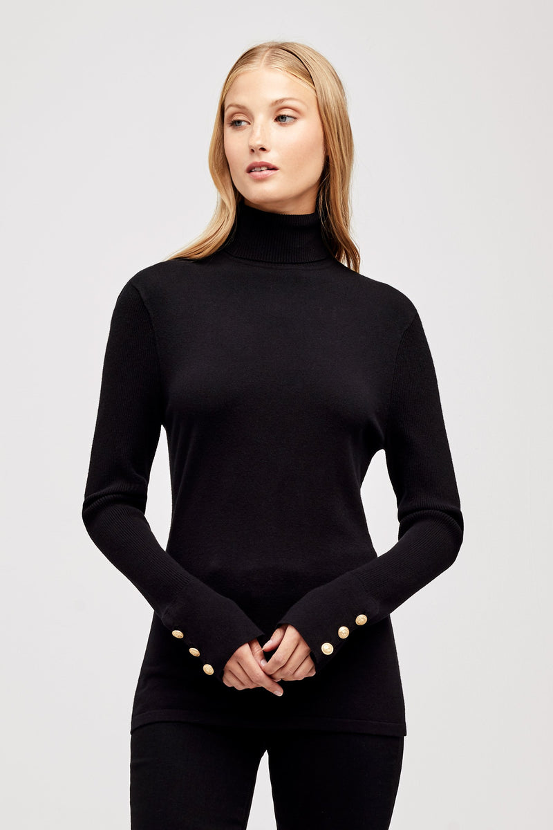 L'AGENCE ODETTE SWEATER IN BLACK