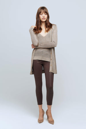 L'AGENCE MILLIE CARDIGAN IN TAUPE