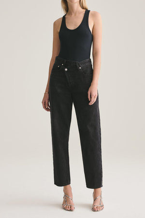AGOLDE CRISS CROSS JEAN IN SAVAGE
