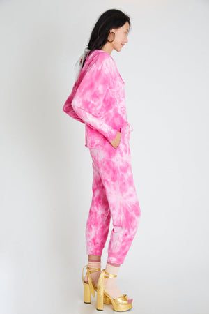 LOVESHACKFANCY BLEX SWEATPANT IN BOUGAINVILLEA