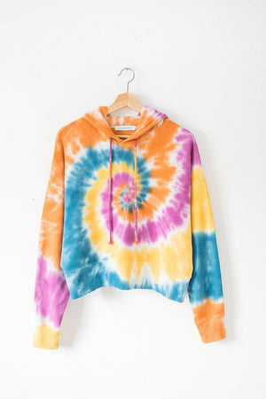 DAYDREAMER DOUBLE TROUBLE TIE DYE SHRUNKEN HOODIE
